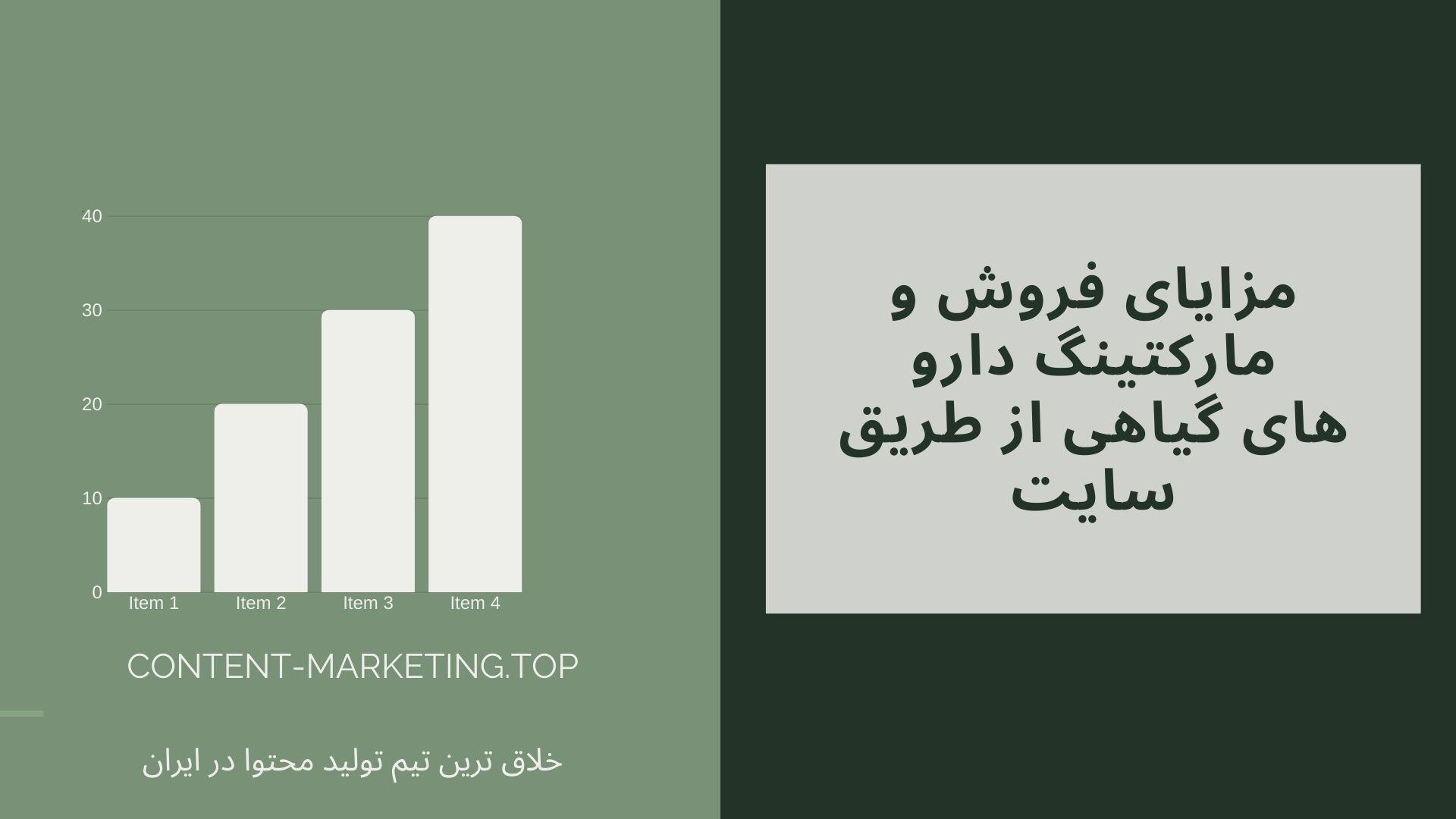 مزایای فروش و مارکتینگ دارو های گیاهی از طریق سایت