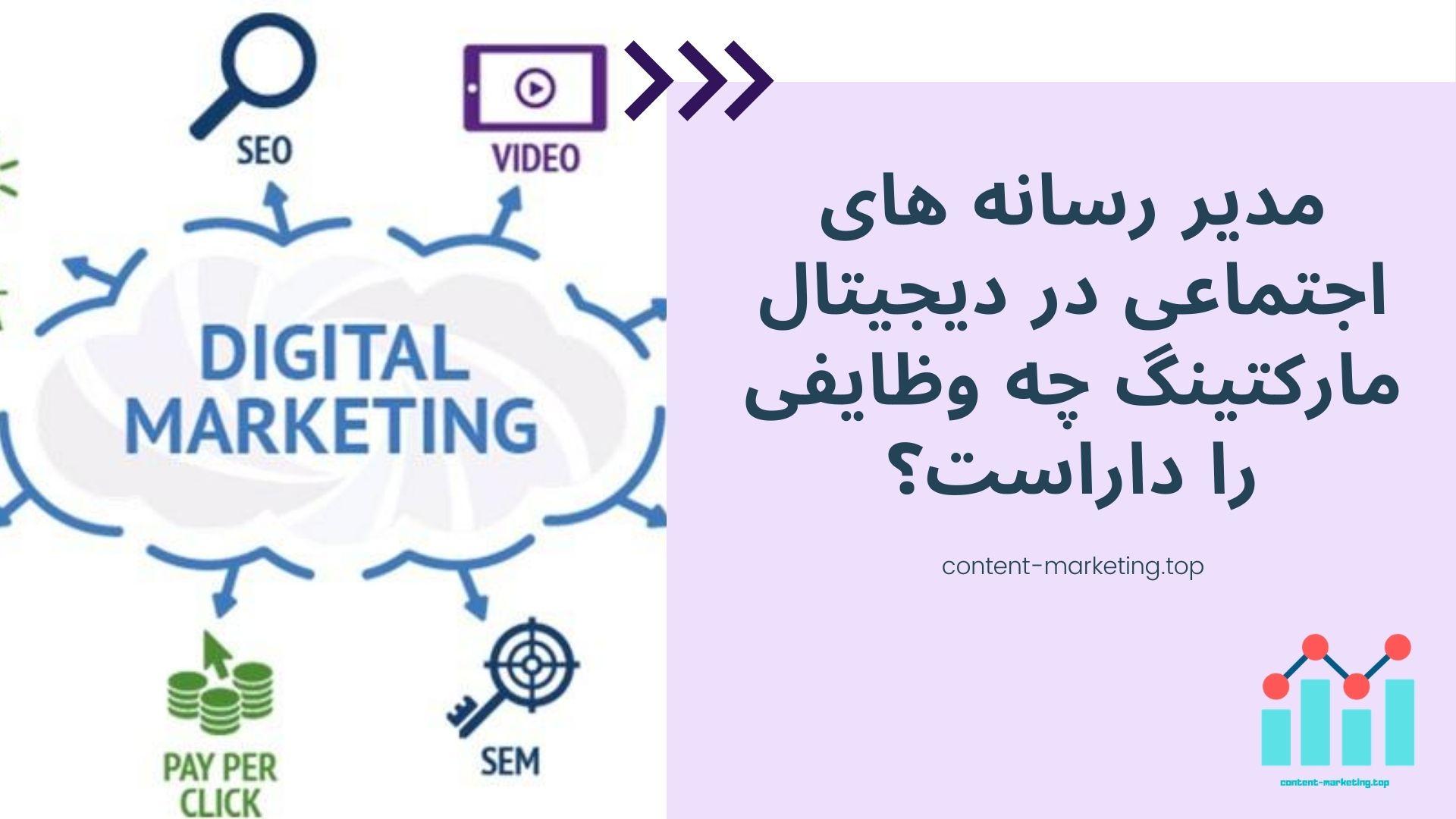 مدیر رسانه های اجتماعی در دیجیتال مارکتینگ چه وظایفی را داراست؟